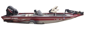 CX 17 Crappie Outboard Crestliner Bimini Tops | Custom Sunbrella® Crestliner Covers | Cover World