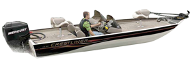 CX 1860 Bass Outboard Crestliner Bimini Tops | Custom Sunbrella® Crestliner Covers | Cover World