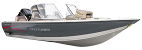 V14 Fish Hawk Dlx Outboard Crestliner Bimini Tops | Custom Sunbrella® Crestliner Covers | Cover World