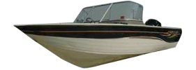 V150 Mirage Outboard Crestliner Bimini Tops | Custom Sunbrella® Crestliner Covers | Cover World