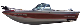 V160 Pro AM Tiller Outboard Crestliner Boat Covers | Custom Sunbrella® Crestliner Covers | Cover World