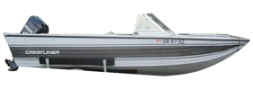 V170 Phantom Eagle Outboard Crestliner Bimini Tops | Custom Sunbrella® Crestliner Covers | Cover World