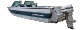 V180 CC Outboard Crestliner Boat Covers | Custom Sunbrella® Crestliner Covers | Cover World