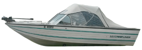 V180 Phantom Sterndrive Crestliner Bimini Tops | Custom Sunbrella® Crestliner Covers | Cover World