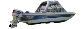 V196 Phantom Sst Outboard Crestliner Bimini Tops | Custom Sunbrella® Crestliner Covers | Cover World