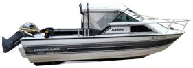 V205 Sabre Runabout Outboard Crestliner Boat Covers | Custom Sunbrella® Crestliner Covers | Cover World