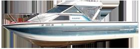 V220 Sabre GL Sportfish Outboard Crestliner Boat Covers | Custom Sunbrella® Crestliner Covers | Cover World