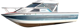 V220 Sabre GL Sportfish Sterndrive Crestliner Boat Covers | Custom Sunbrella® Crestliner Covers | Cover World