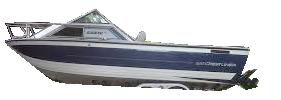 V245 Sabre WAC Sterndrive Crestliner Boat Covers | Custom Sunbrella® Crestliner Covers | Cover World