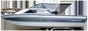 V245 Vanguard Cuddy Sterndrive Crestliner Boat Covers | Custom Sunbrella® Crestliner Covers | Cover World