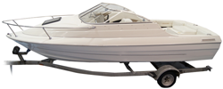 V-hull Low Profile Cuddy Cabin Boat with Windshield and Bow Rails Cuddy Cabin Boat Covers | Custom Sunbrella® Cuddy Cabin Covers | Cover World