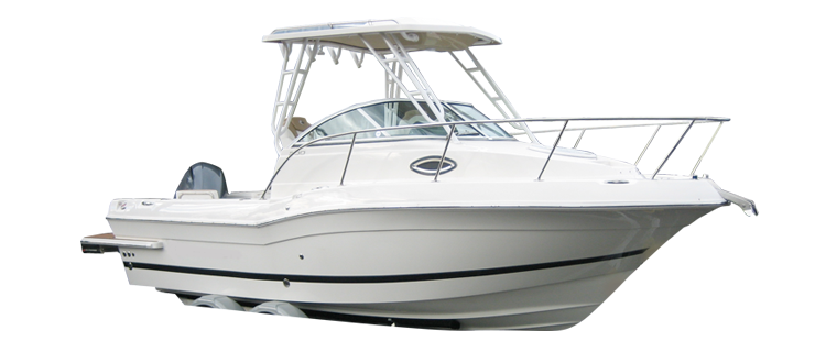 Walk Around Cuddy Boat with Hard Top Cuddy Cabin Boat Covers