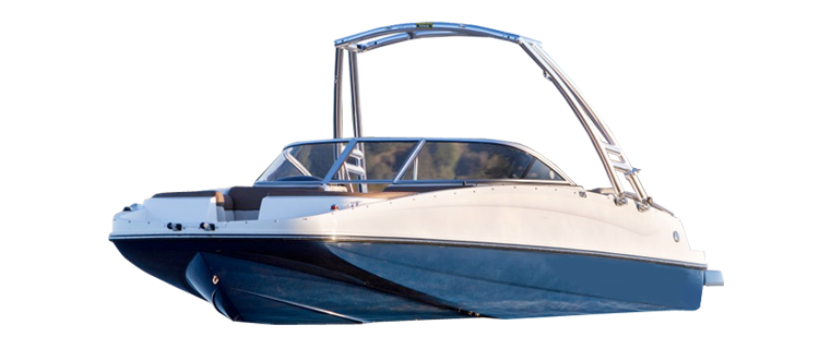 Deck Boat with Tower - Cutout Tower Cover Deck Boat Covers | Custom Sunbrella® Deck Covers | Cover World