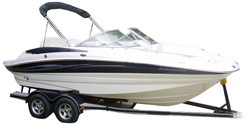 Deck Boat with Walk-Thru Windshield or Side Console Deck Boat Covers | Custom Sunbrella® Deck Covers | Cover World
