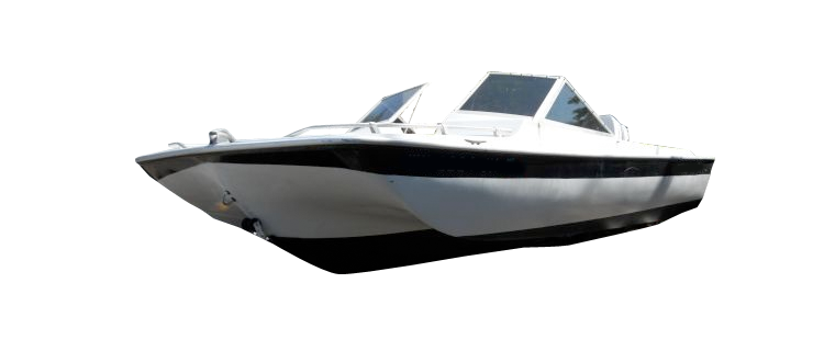 Tri-hull Runabout Boat with Windshield and Hand or Bow Rails Runabout Boat Covers | Custom Sunbrella® Runabout Covers | Cover World