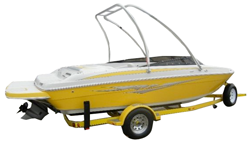 V-Hull Runabout Boat with Ski Tower Runabout Boat Covers | Custom Sunbrella® Runabout Covers | Cover World