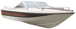 V-hull Runabout Boat with Windshield and Bow Rails Runabout Boat Covers | Custom Sunbrella® Runabout Covers | Cover World