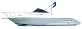 Laguna 24 Flush Deck Cuddy Sea Ray Boat Covers | Custom Sunbrella® Sea Ray Covers | Cover World