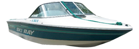 Ski Ray Sportster Closed Bow Sea Ray Boat Covers | Custom Sunbrella® Sea Ray Covers | Cover World