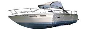 SRV 240 Sundancer Cuddy Cruiser Sea Ray Boat Covers | Custom Sunbrella® Sea Ray Covers | Cover World