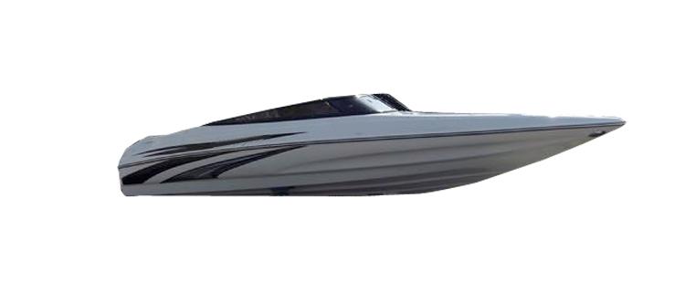 Ski Boat with Low Profile Windshield Ski & Wakeboard Boat Covers