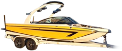 Tournament Ski Boat with Rear Mounted Forward-Facing Tower Ski & Wakeboard Boat Covers