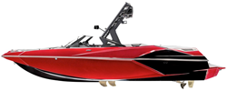 Tournament Ski Boats w/ Wide or Pickle Fork Bow & Swim Platform: Over-the-Tower Cover Ski & Wakeboard Boat Covers